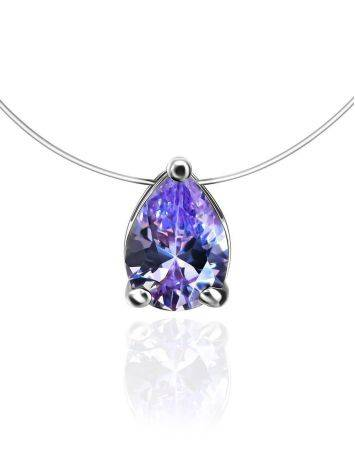 Teardrop Crystal Invisible Necklace The Aurora, image