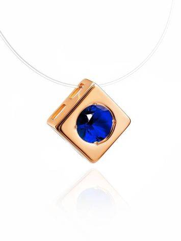 Invisible Necklace With Golden Pendant The Aurora, image , picture 3