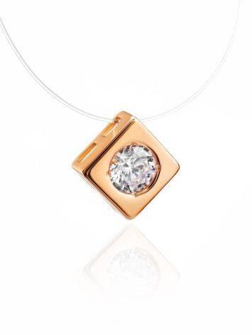 Golden Pendant Invisible Necklace The Aurora, image , picture 3