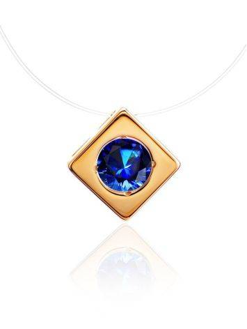 Invisible Necklace With Golden Pendant The Aurora, image