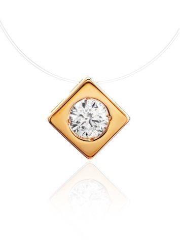 Golden Pendant Invisible Necklace The Aurora, image