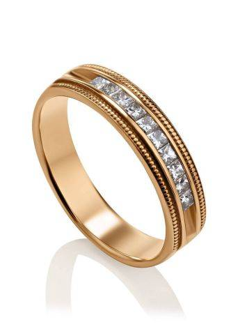 Channel Set Diamond Ring In Gold, Ring Size: 7 / 17.5, image