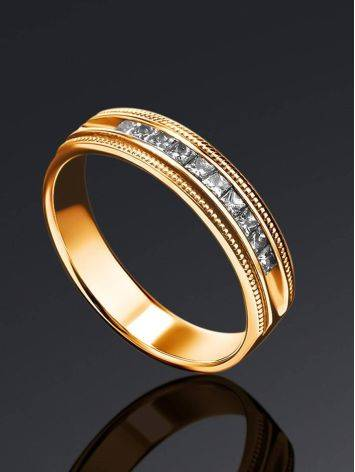 Channel Set Diamond Ring In Gold, Ring Size: 7 / 17.5, image , picture 2