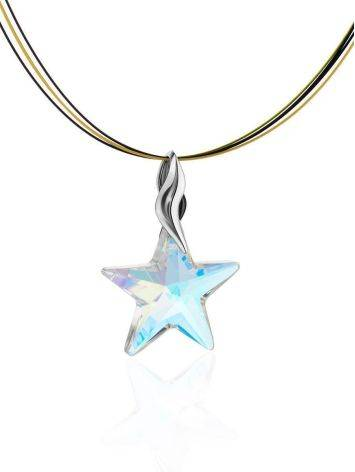 Crystal Star Pendant Necklace The Fame, image