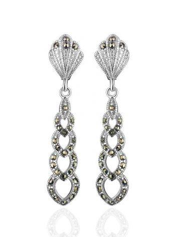 Sterling Silver Dangles With Black Marcasites The Lace, image