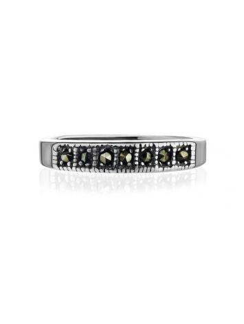 Laconic Sterling Silver Ring With Marcasites The Lace, Ring Size: 6 / 16.5, image , picture 3