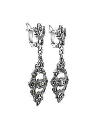 Elegant Silver Dangle Earrings With Marcasites The Lace, image , picture 3