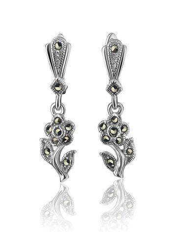 Silver Floral Dangles With Marcasites The Lace, image , picture 3