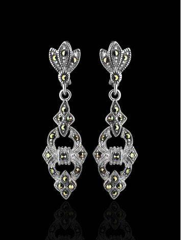 Elegant Silver Dangle Earrings With Marcasites The Lace, image , picture 2