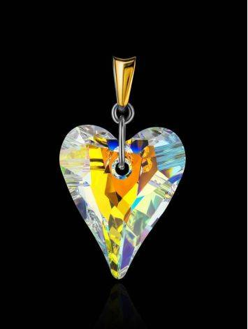 Crystal Heart Pendant In Gold Plated Silver The Fame, image , picture 2