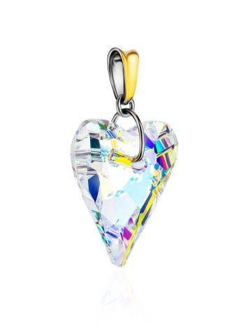 Crystal Heart Pendant In Gold Plated Silver The Fame, image , picture 3