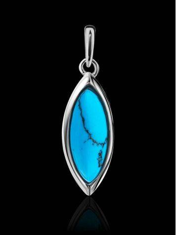 Sterling Silver Pendant With Reconstructed Turquoise The Amaranth, image , picture 2