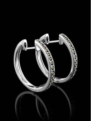 Silver Hoop Earrings With Marcasites The Lace, image , picture 2
