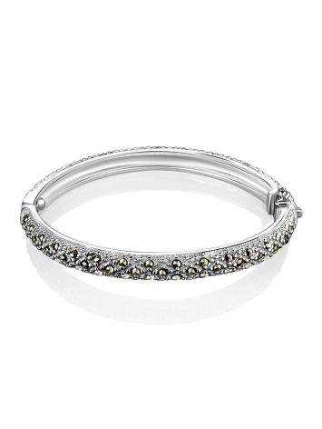 Silver Hinged Bracelet With Marcasites The Lace, image , picture 3
