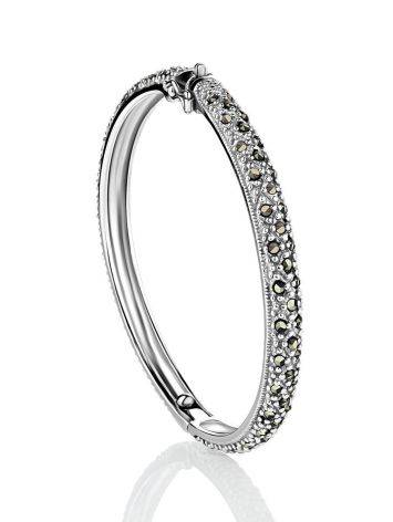 Silver Hinged Bracelet With Marcasites The Lace, image