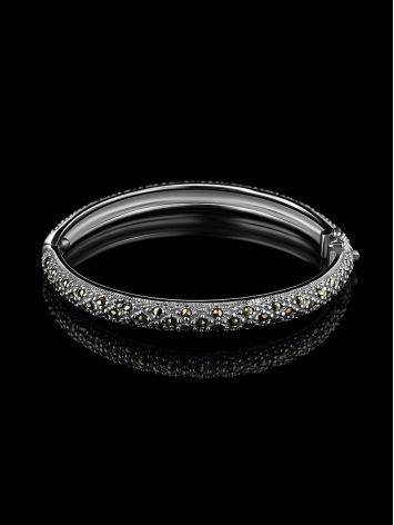 Silver Hinged Bracelet With Marcasites The Lace, image , picture 2