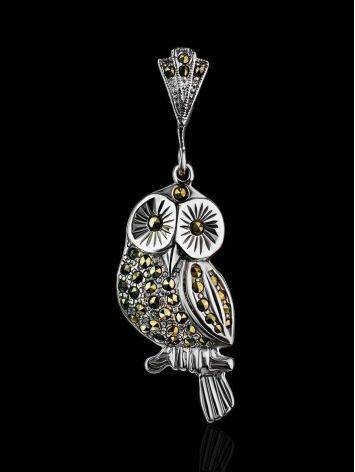 Silver Owl Pendant With Marcasites The Lace, image , picture 2