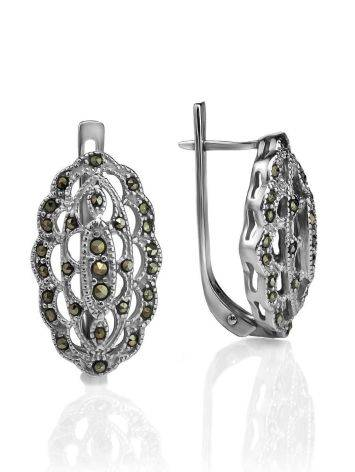 Sterling Silver Earrings With Marcasites The Lace, image