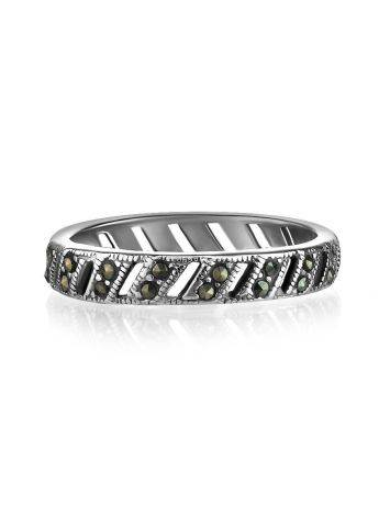 Sterling Silver Ring With Marcasites The Lace, Ring Size: 6.5 / 17, image , picture 3