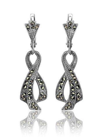 Twisted Marcasite Dangle Earrings In Sterling Silver The Lace, image