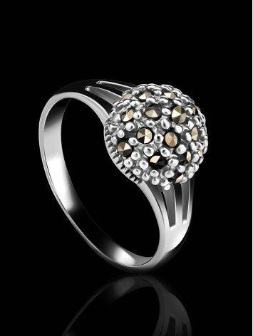 Sterling Silver Marcasite Ring The Lace, Ring Size: 6.5 / 17, image , picture 2