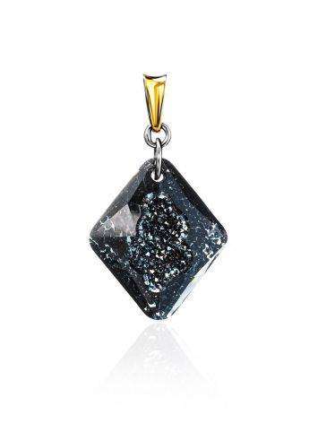Bold Gold Plated Pendant With Black Crystal The Fame, image , picture 4