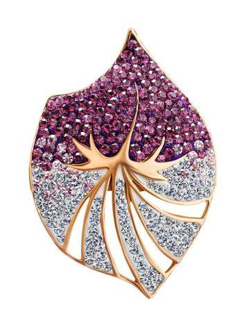 Flat Gold-Plated Pendant With Multicolor Crystals The Jungle, image