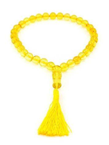 33 Amber Islamic Prayer Beads With Tassel, image , picture 3