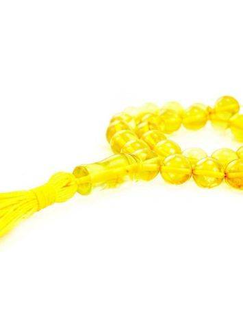 33 Amber Islamic Prayer Beads With Tassel, image , picture 2