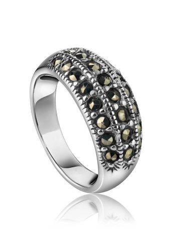 Sterling Silver Band Ring With Marcasites The Lace, Ring Size: 5.5 / 16, image
