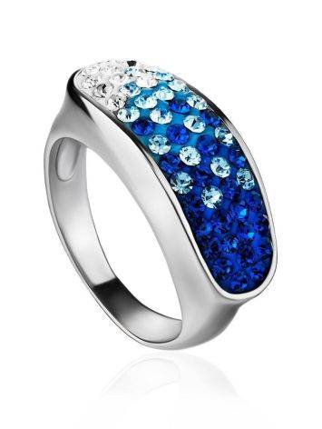 Two Toned Crystal Ring The Eclat, Ring Size: 6.5 / 17, image