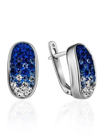 Blue And White Crystal Earrings The Eclat, image