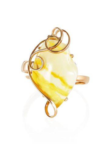 Handcrafted Amber Golden Ring The Rialto, Ring Size: Adjustable, image , picture 3