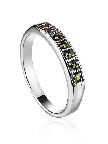 Laconic Sterling Silver Ring With Marcasites The Lace, Ring Size: 6 / 16.5, image