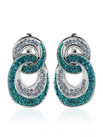 Green And White Crystal Earrings The Eclat, image