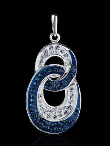 Sterling Silver Pendant With Blue And White Crystals The Eclat, image , picture 2