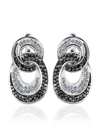Crystal Encrusted Earrings In Sterling Silver The Eclat, image