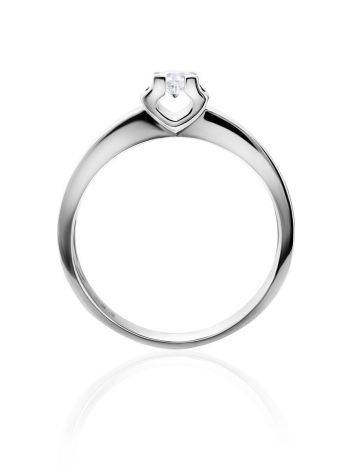 White Gold Statement Ring With Diamond Centerpiece, Ring Size: 7 / 17.5, image , picture 3