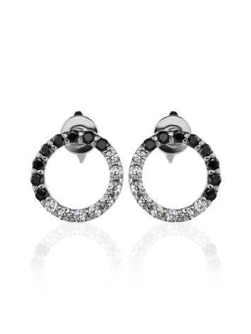 Black And White Crystal Studs The Aurora, image , picture 3