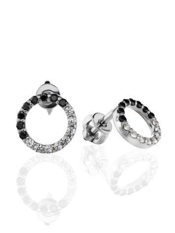 Black And White Crystal Studs The Aurora, image