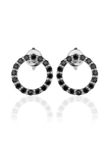 Round Black Crystal Studs The Aurora, image , picture 3