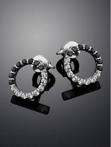 Black And White Crystal Studs The Aurora, image , picture 2