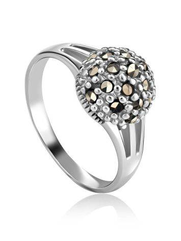 Sterling Silver Marcasite Ring The Lace, Ring Size: 6.5 / 17, image