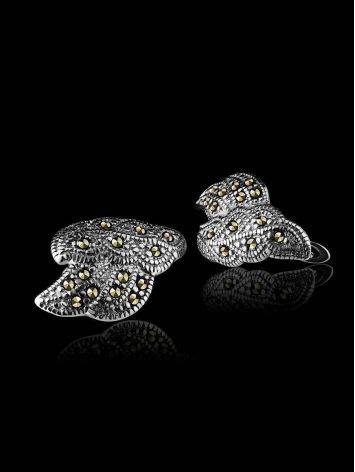 Refined Silver Earrings With Marcasites The Lace, image , picture 2