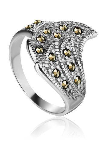 Sterling Silver Ring With Marcasites The Lace, Ring Size: 6.5 / 17, image