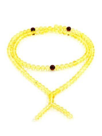108 Lemon Amber Buddhist Prayer Beads, image