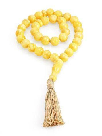 33 Honey Amber Muslim Prayer Beads With Tassel, image