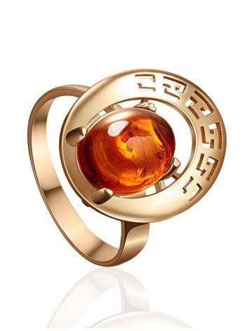 Golden Amber Adjustable Ring The Ellas, Ring Size: Adjustable, image