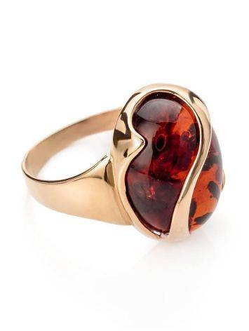 Cognac Amber Ring In Gold, Ring Size: 9.5 / 19.5, image