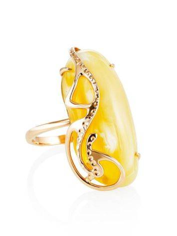 Honey Amber Golden Ring The Triumph, Ring Size: Adjustable, image